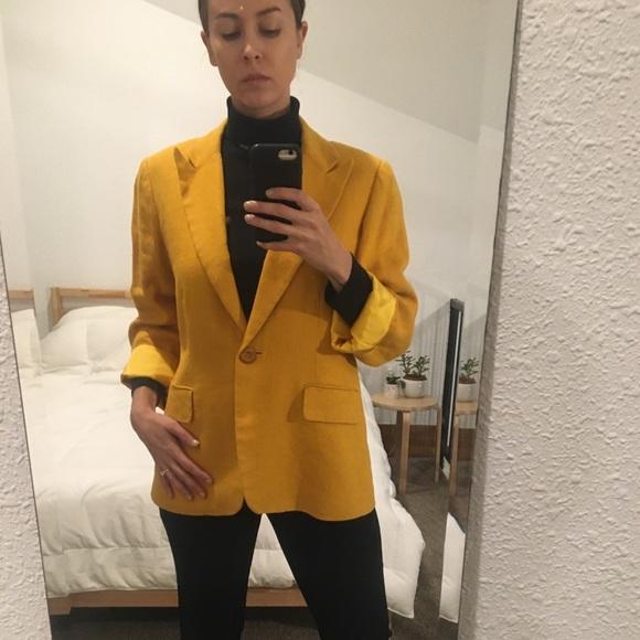 Austin Reed Jackets Coats Vintage Marigold Linen Blazer Poshmark